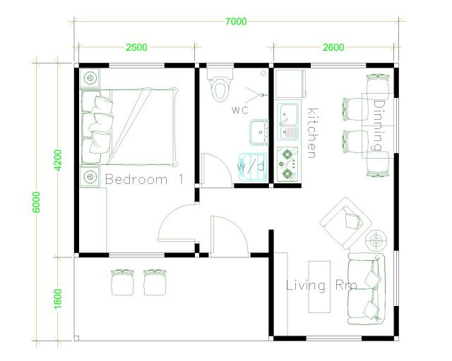 Simple House Designs 7x6 Hip Roof Floor Plans