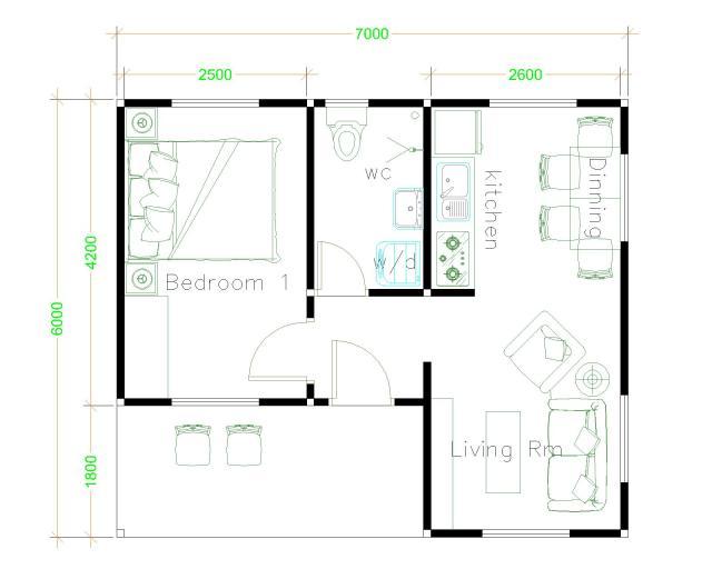 Simple House Designs 7x6 Hip Roof Floor Plans