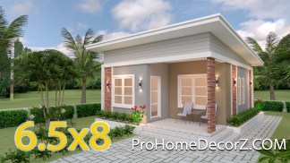 Single Floor House Designs 6.5x8 Shed Roof