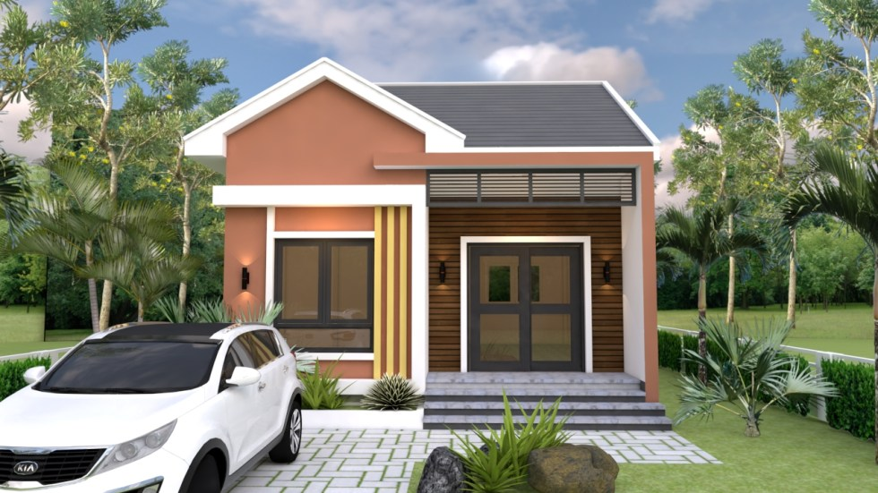 Small Bungalow 6.5x8.5 with 2 Bedrooms Gable roof 2