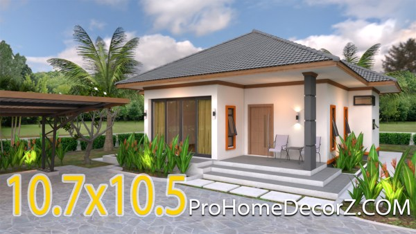 Small Dream House 10.7x10.5 Meter 35x34 Feet 2 Beds