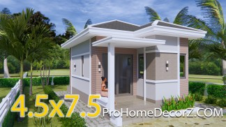 Small Family Home 4.5x7.5 with Hip Roof