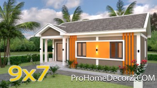 Small Family Home 9x7 Meter 30x23 Feet 2 Beds