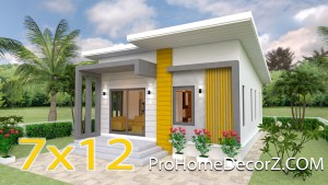 Small Family House 7x12 Meter 23x40 Feet 2 Beds