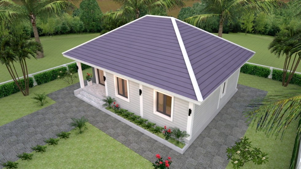 Small House Living 9x7 Meter 30x23 Feet 2 Beds 4