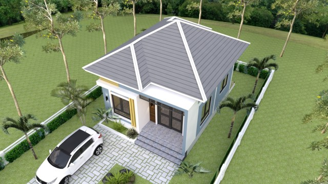 Small Mansion 6.5x8.5 Meter 22x28 Feet Hip roof 3