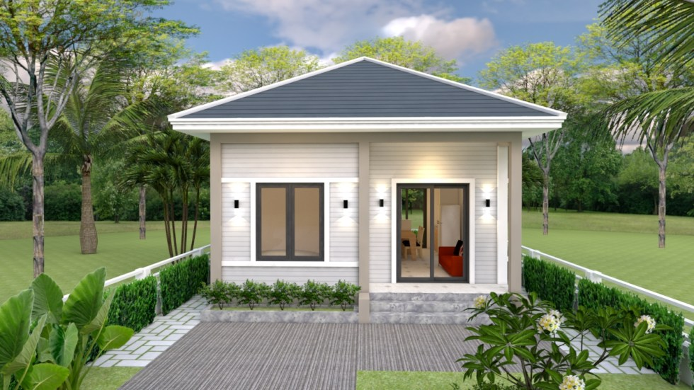 Tiny House Layout 6x7 Meter 20x23 Feet 2 Bedrs 2
