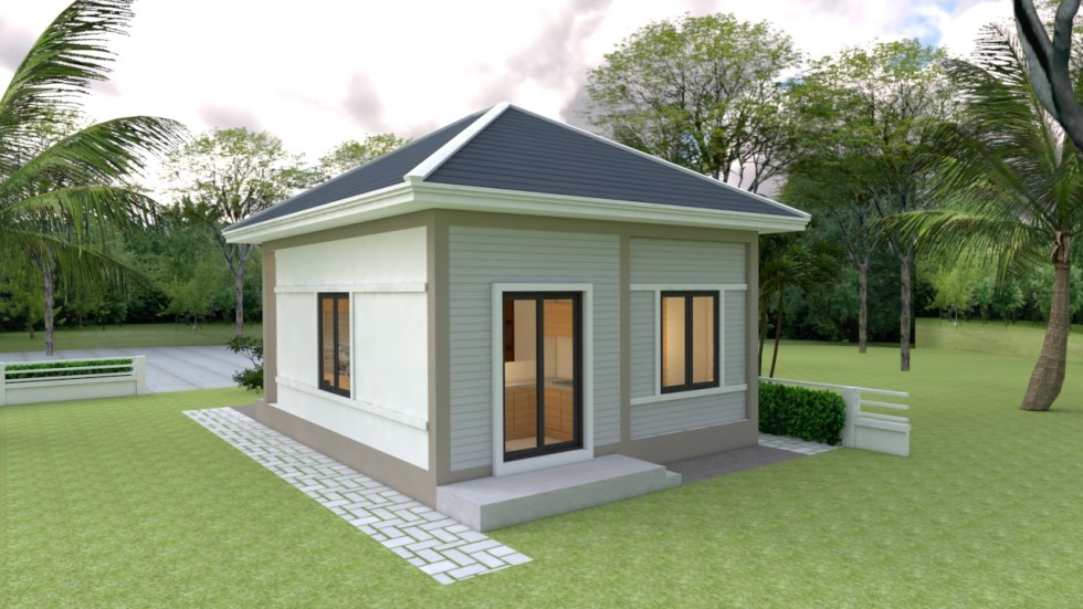 Tiny House Layout 6x7 Meter 20x23 Feet 2 Beds 3