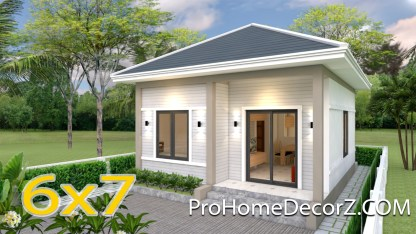 Tiny House Layout 6x7 Meter 20x23 Feet 2 Beds