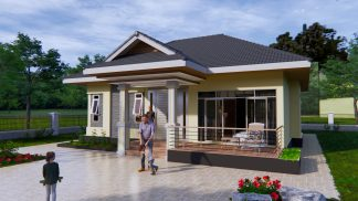 Bungalow House Plans 31x43 Feet 9x13.5 Meters