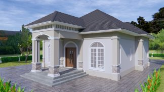 Contemporary House 33x54 feet 10x16 meter 3 Beds