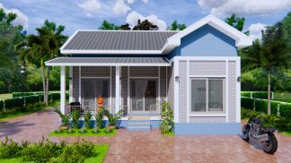 House Architecture 9x9 Meters 30x30 Feet 2 Beds