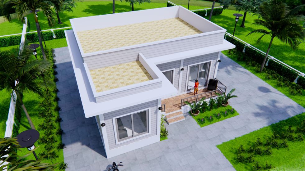 Modern Style Homes 9x9 Meters 30x30 Feet 2 Beds 3