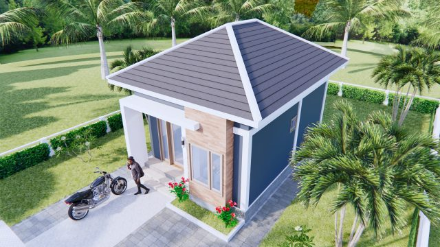 New Small House Designs 5x7 Meters 16x23 Feet 1