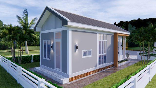 One Floor House Plans 4x9 Meter 13x30 Feet 3
