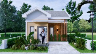 Small Brick Houses 6x7 Meter 20x23 Feet 2 Bed 2