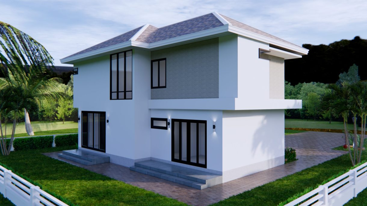 Home Designs 12.4x11 Meter 41x35 Feet 4 Beds 5