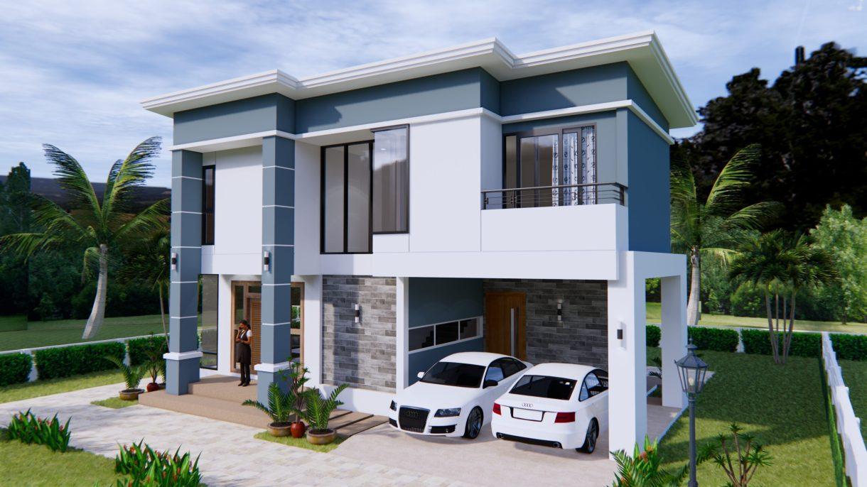 Home Plans 11x8 Meter 36x26 Feet 3 Beds 3