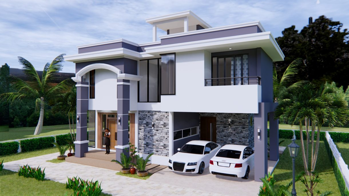 House Design 11x8 Meter 36x26 Feet 3 Beds 1
