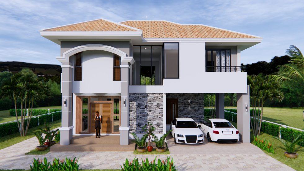 House Plans 11x8 Meter 36x26 Feet 3 Beds 2