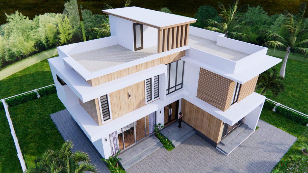 House Plans 12.4x11 Meter 41x35 Feet 4 Beds 8