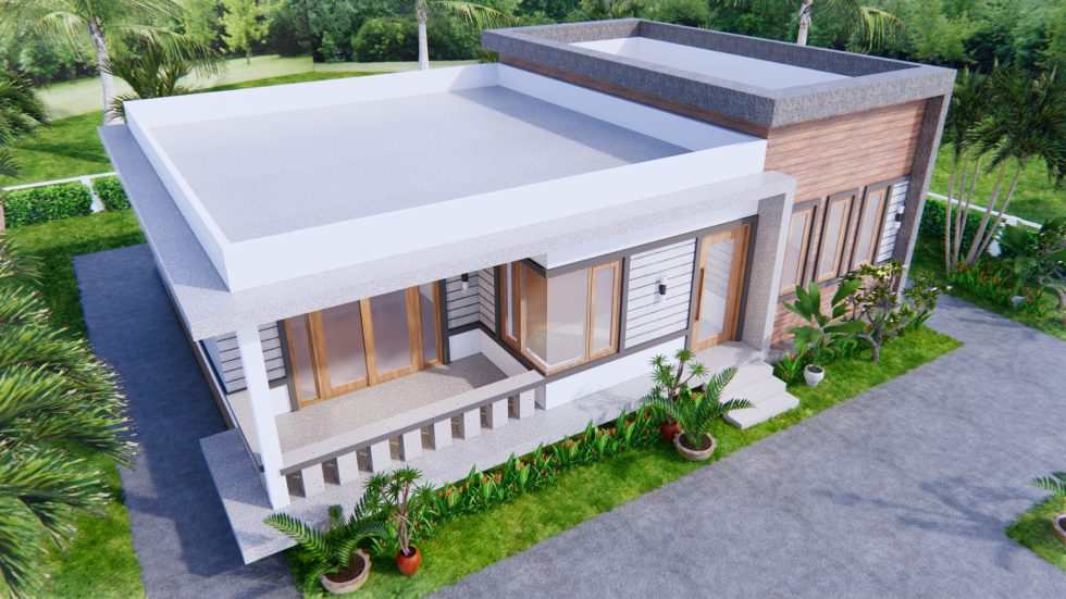 One Level House Plans 12x12 Meters 40x40 Feet 3 Beds 5