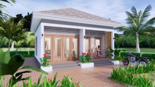 Small House Design 7x7 Meter 23x23 Feet One Bed 1
