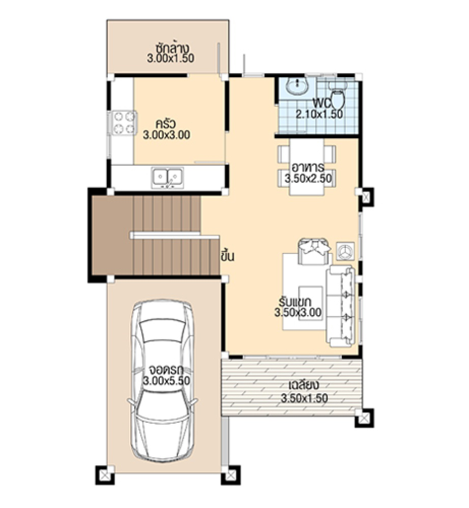 Home Plans 7.5x10 Meter with 3 Bedrooms ground floor plans