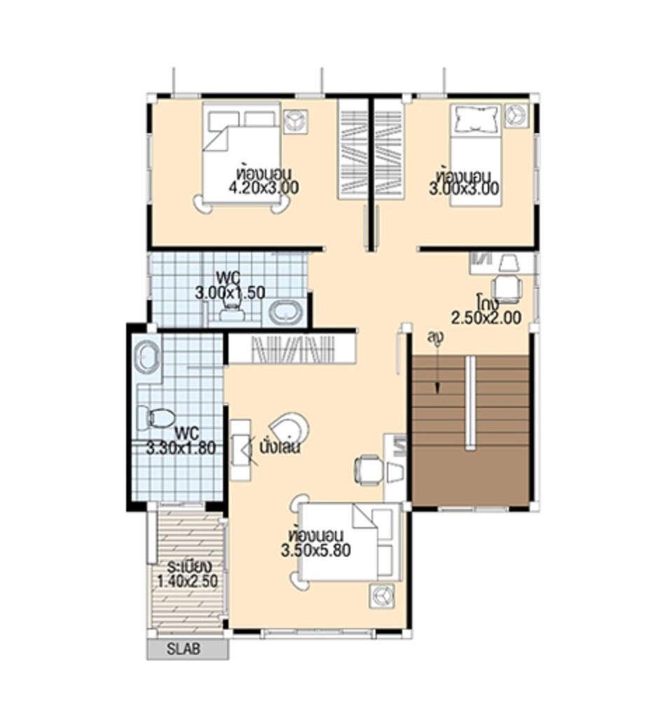 House plans 3d 7.5x11 with 3 bedrooms floor plans first floor