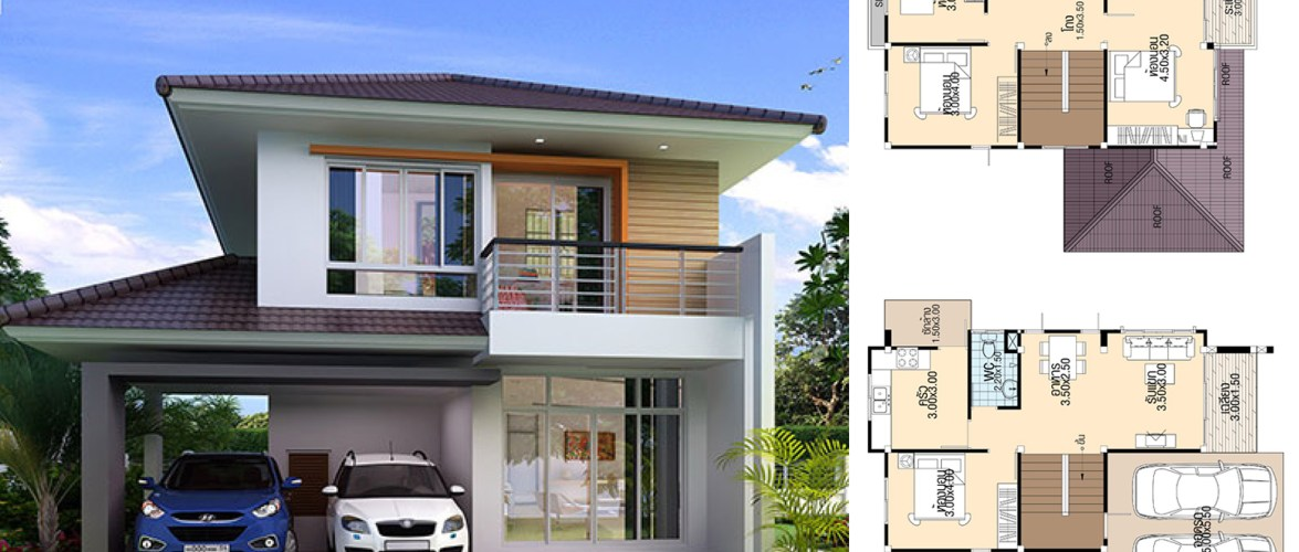 Simple House Design 8.5×12 with 4 bedrooms