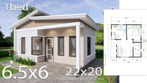 Small House Plans 6.5x6 Meter 22x20 Feet PDF Floor Plans
