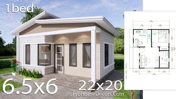 Small House Plans 6.5x6 Meter 22x20 Feet PDF Floor Plans