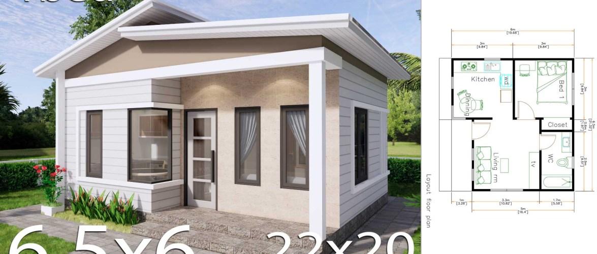 House Plans 6.5×6 Meter 22×20 Feet PDF Floor Plans