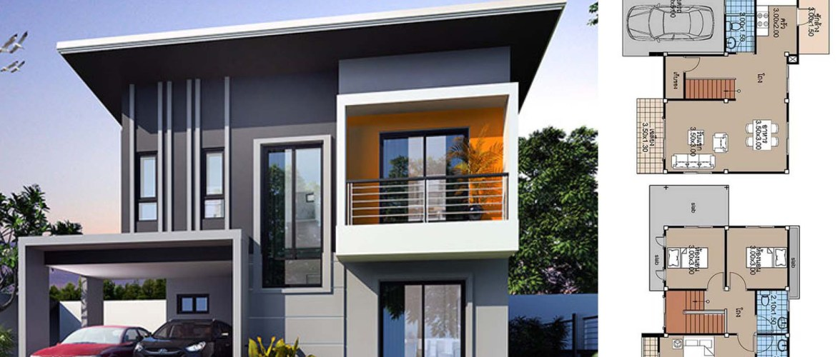 House Plans 11×6.5 with 3 Bedrooms