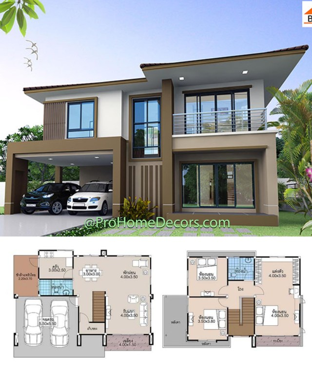 House-Plans-13.5x9-with-3-Beds-2