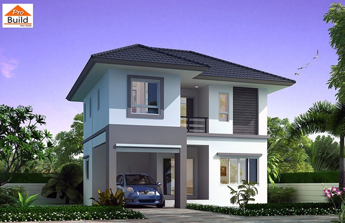 House Plans 8.2x7.5 with 3 Beds