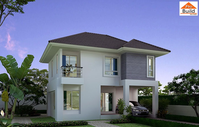 House Plans 8.8x7.5 with 3 Beds