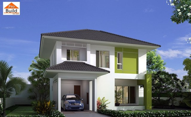 House Plans 8.8x8 with 3 Beds