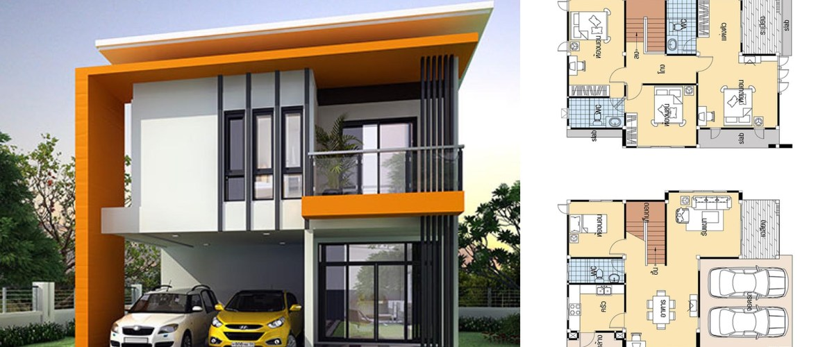 House Plans 8×11.5 with 4 bedrooms