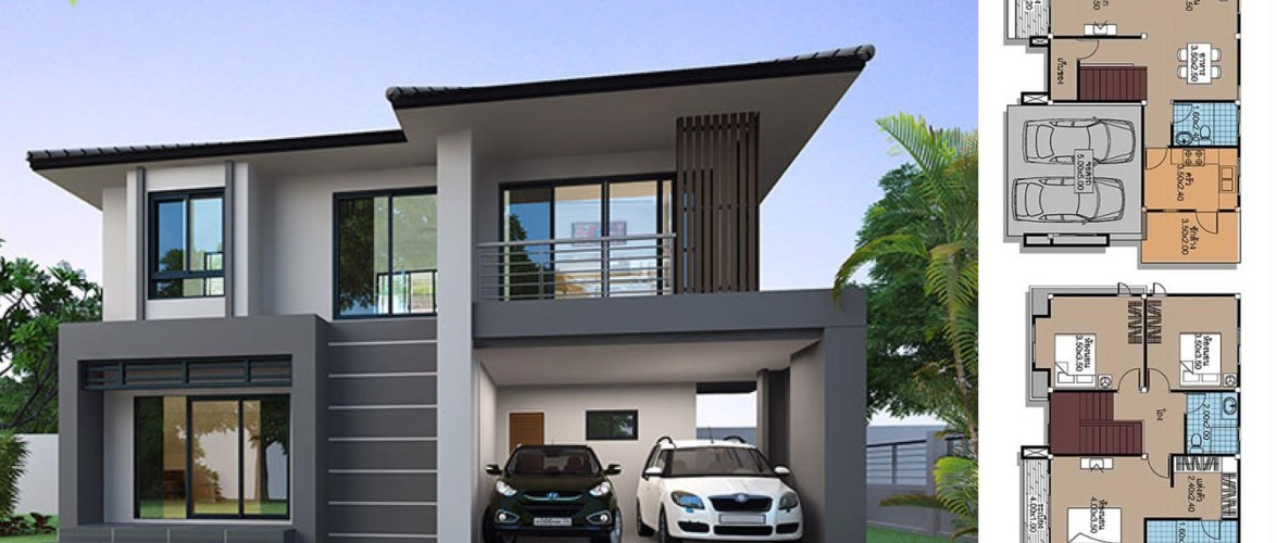 House Plans 9.5×7 with 3 Bedrooms