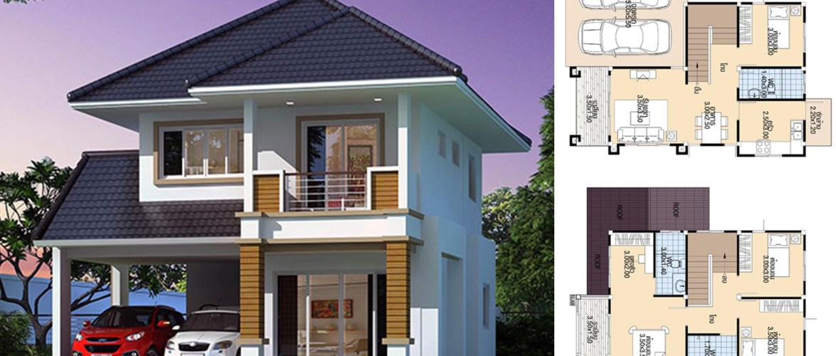 House Plans 9×11 with 4 Bedrooms