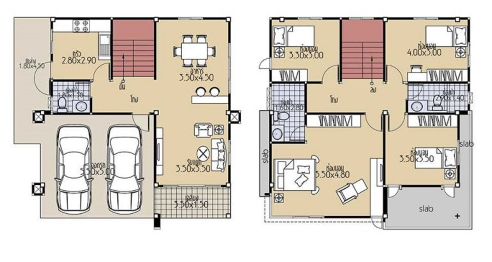 House Plans 9x9.5 with 4 Bedrooms floor plans