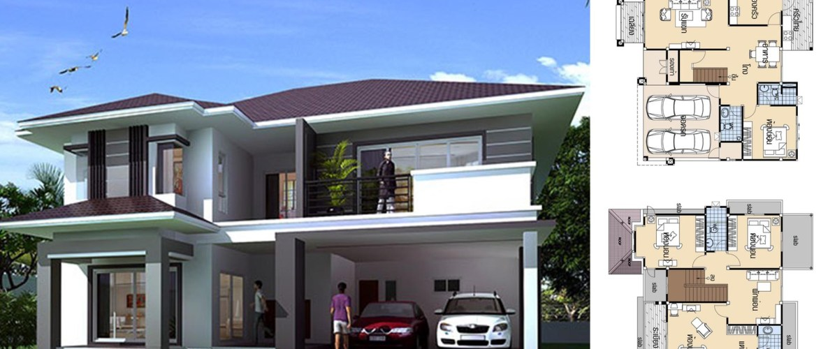 House plans 10.8×12.5 with 4 Beds