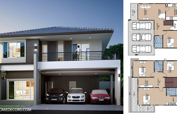 House plans 11×11 with 4 Beds