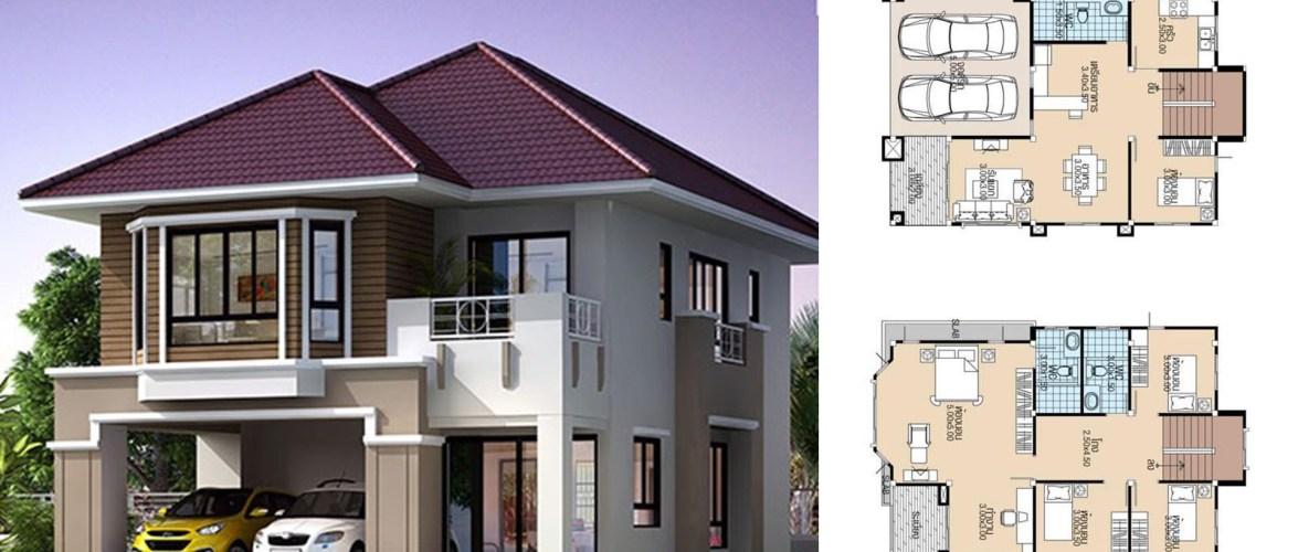 House plans 8×11.5 with 5 Beds