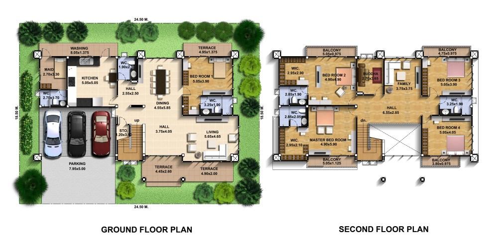 House-Design-Plot-24x18-meter-with-6-Bedrooms-Layout-floor-plan