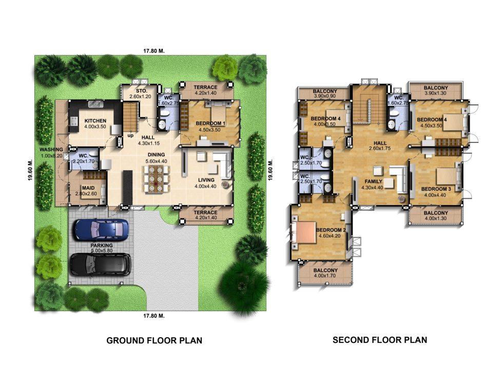 House-Idea-Plot-17x19-meter-6-Bedrooms-Layout-floor-plan