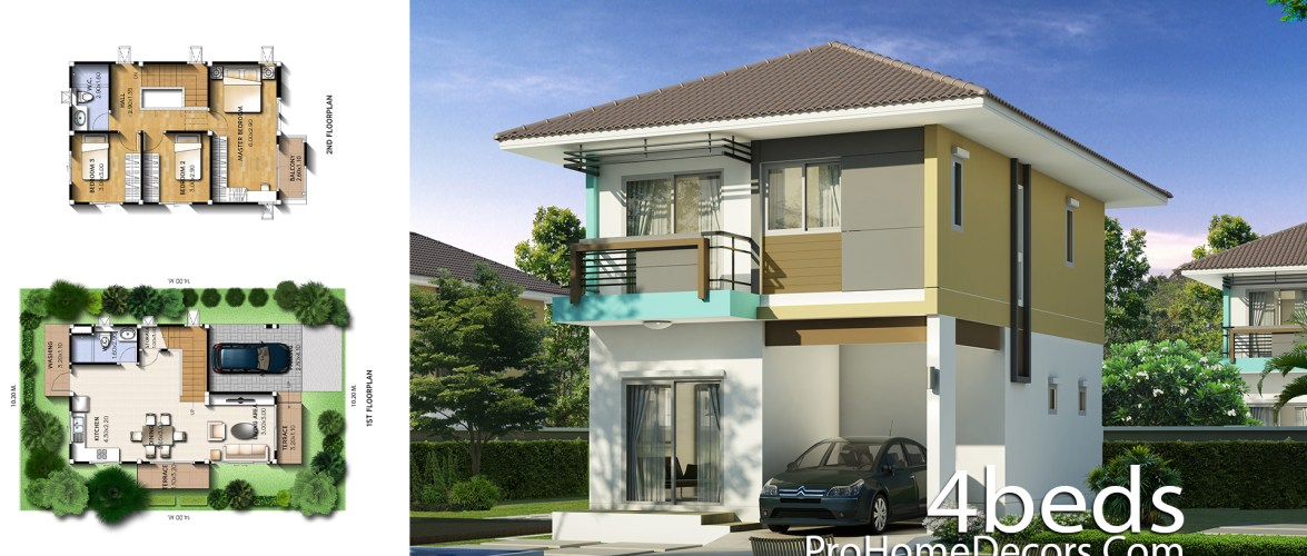 Small House Plan 6×9 Meter With 3 Bedrooms