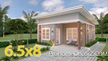 Small Cottage House 6 5x8 Meter 21x26 Feet Hip Roof Pro Home Decorz