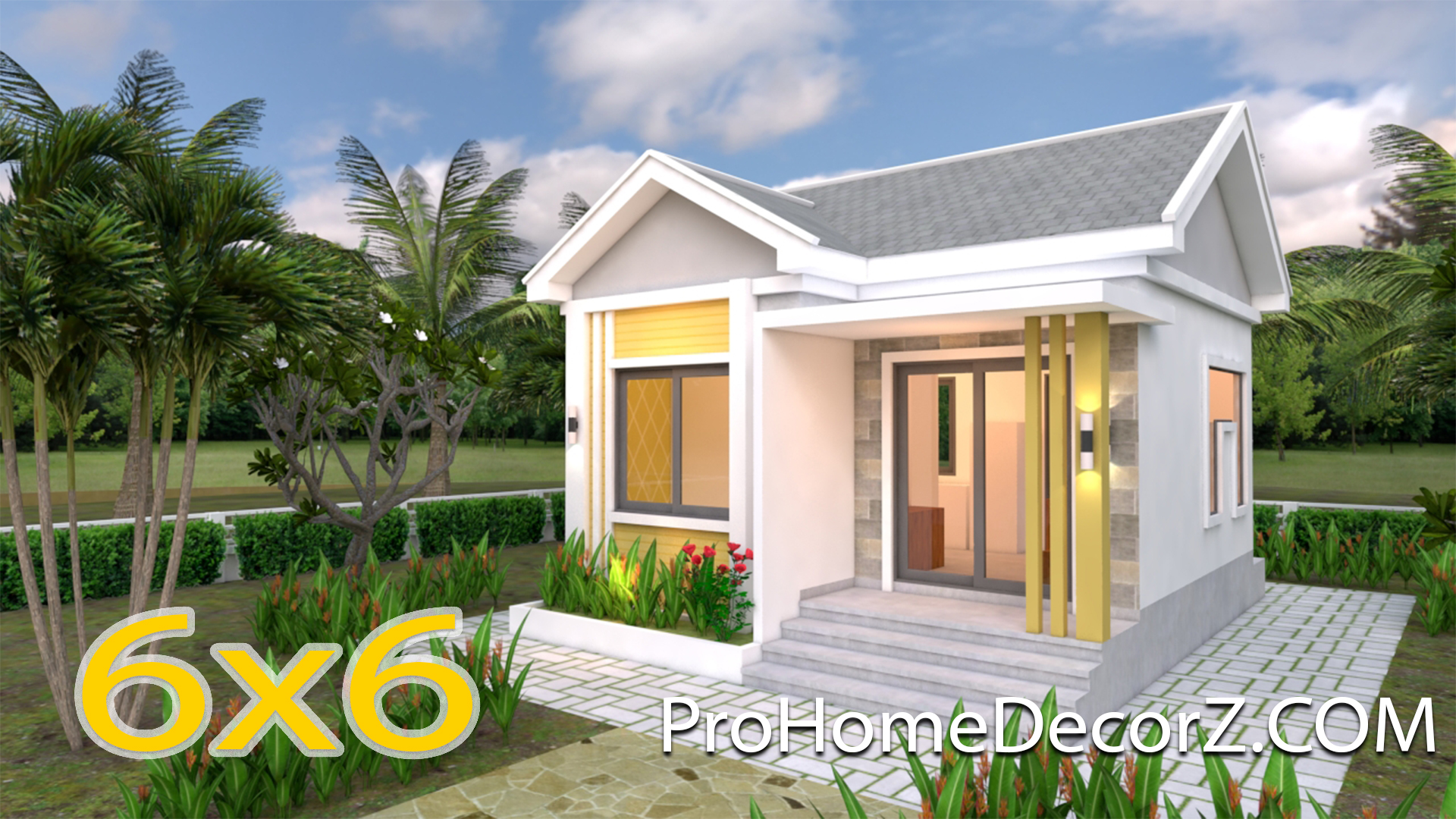 Small Cottage Designs 6x6 Meters 20x20 Feet Pro Home Decorz
